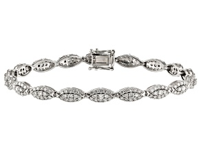 White Lab-Grown Diamond 14K White Gold Bracelet 3.15ctw