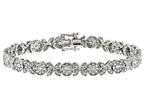 White Lab-Grown Diamond 14K White Gold Bracelet 3.86ctw