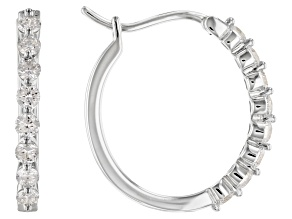 White Lab-Grown Diamond 14K White Gold Earrings 0.50ctw
