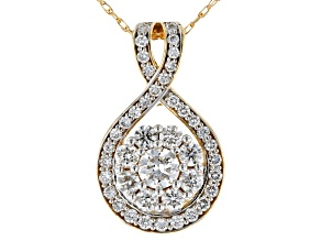 White Lab-Grown Diamond 14K Yellow Gold Pendant With An 18