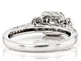 White Lab-Grown Diamond 14K White Gold Promise Ring 0.50ctw