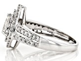 White Lab-Grown Diamond 14K White Gold Ring 1.08ctw