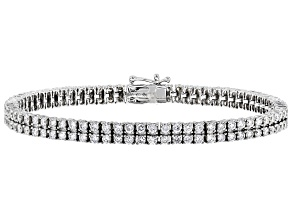 White Lab-Grown Diamond 14K White Gold Bracelet 5.00ctw