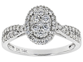 White Lab-Grown Diamond 14K White Gold Ring 0.70ctw