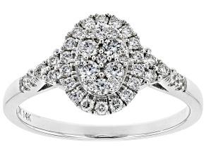 White Lab-Grown Diamond 14K White Gold Ring 0.50ctw