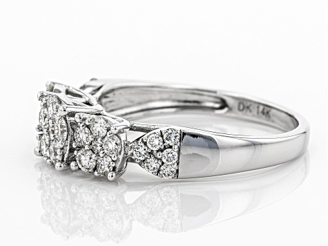 White Diamond 14K White Gold Ring 0.70ctw