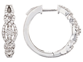 White Lab-Grown Diamond 14K White Gold Ring 0.65ctw