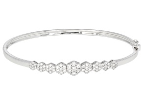 White Lab-Grown Diamond 14K White Gold Bracelet 1.06ctw