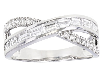 Picture of White Lab-Grown Diamond 14K White Gold Ring 0.81ctw