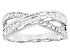 White Lab-Grown Diamond 14K White Gold Ring 0.81ctw