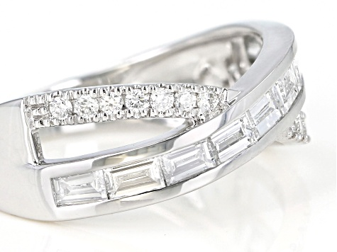 White Lab-Grown Diamond 14K White Gold Ring 0.81ctw