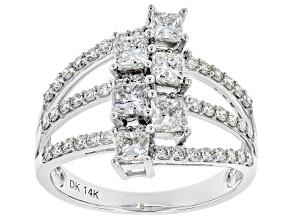 White Lab-Grown Diamond 14K White Gold Ring 1.58ctw