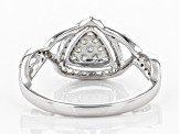 White Lab-Grown Diamond 14K White Gold Cluster Ring 0.41ctw