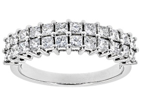 White Lab-Grown Diamond 14K White Gold Ring 1.27ctw
