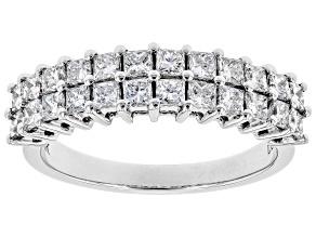 White Lab-Grown Diamond 14K White Gold Ring 1.27ctw