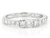 White Lab-Grown Diamond 14k White Gold Ring 0.79ctw