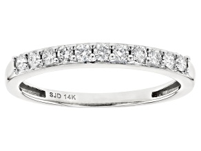 White Lab-Grown Diamond 14k White Gold Band Ring 0.25ctw