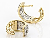 White Lab-Grown Diamond 14k Yellow Gold Hoop Earrings 0.95ctw