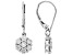 White Lab-Grown Diamond 14k White Gold Dangle Earrings 1.00ctw