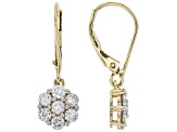 White Lab-Grown Diamond 14k Yellow Gold Dangle Earrings 1.00ctw