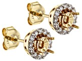 White Lab-Grown Diamond 14k Yellow Gold Earring Jackets 0.24ctw