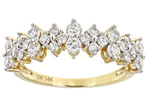 White Lab-Grown Diamond 14k Yellow Gold Band Ring 1.00ctw