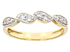 White Lab-Grown Diamond 14k Yellow Gold Band Ring 0.24ctw