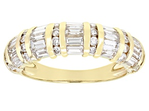 White Lab-Grown Diamond 14k Yellow Gold Band Ring 1.75ctw