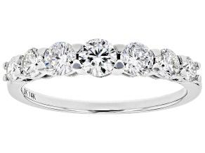White Lab-Grown Diamond 14k White Gold 7-Stone Band Ring 1.00ctw