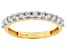 Engild™ White Lab-Grown Diamond 14k Yellow Gold Over Sterling Silver Band Ring 0.39ctw