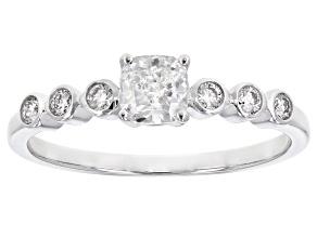 White lab-Grown Diamond 14k White Gold Engagement Ring 0.65ctw