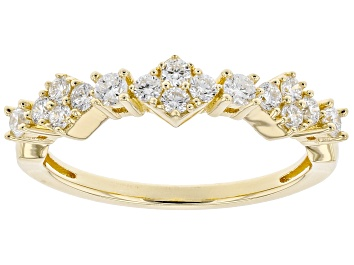 Picture of Engild™ White Lab-Grown Diamond 14k Yellow Gold Over Sterling Silver Band Ring 0.40ctw