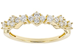 Engild™ White Lab-Grown Diamond 14k Yellow Gold Over Sterling Silver Band Ring 0.40ctw