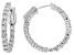 White Lab-Grown Diamond 14k White Gold Hoop Earrings 1.80ctw