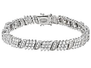 White Lab-Grown Diamond 14k White Gold Tennis Bracelet 4.90ctw