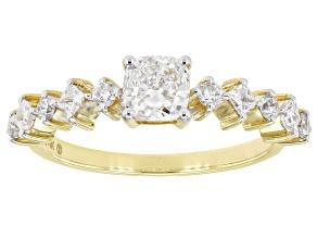 White Lab-Grown Diamond 14k Yellow Gold Engagement Ring 1.01ctw
