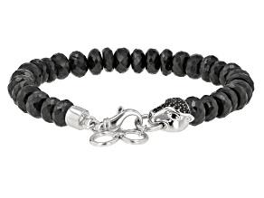Black Spinel sterling silver bracelet 181.89ctw