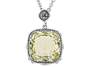 Yellow quartz silver pendant with chain 9.73ct