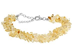 Yellow citrine sterling silver bracelet