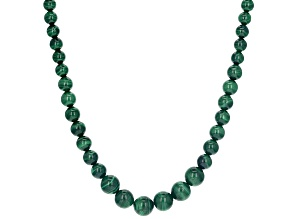 Green malachite sterling silver necklace