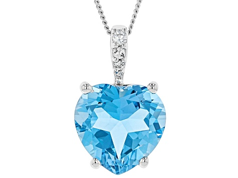 Blue Topaz Sterling Silver Pendant With Chain 5.05ctw