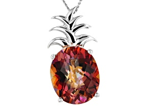 Multicolor Azotic Ecstasy™ Mystic Topaz®  silver pendant with chain 3.75ct