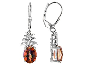 Multicolor Azotic Ecstasy™ Mystic Topaz® silver earrings 4.70ctw