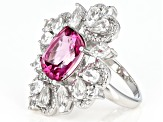 Pure Pink(TM) topaz sterling silver ring 10.17 ctw