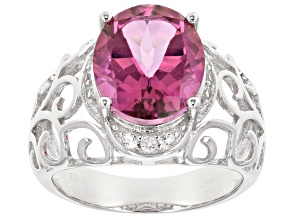 Pure Pink(TM) sterling silver ring 5.83ctw