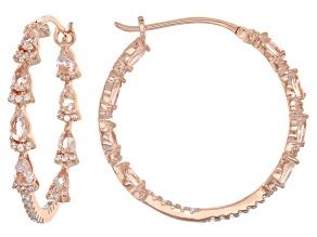 Pink morganite 18k rose gold over silver earrings 3.72ctw