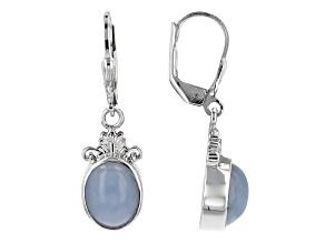 Blue angelite sterling silver dangle earrings