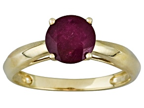 Mahaleo Ruby 14k Yellow Gold Ring 1.60ct