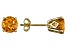 Womens 1.54ctw 6mm Round Yellow Citrine 14kt Yellow Gold Stud Post Earrings