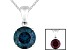 2.2ctw 8mm Round Blue Alexandrite Solid 14kt White Gold Solitaire Pendant